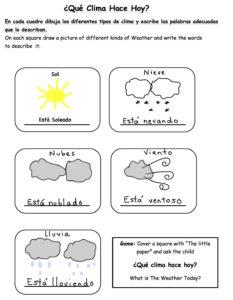 que-clima-hace-worksheet-g-sample